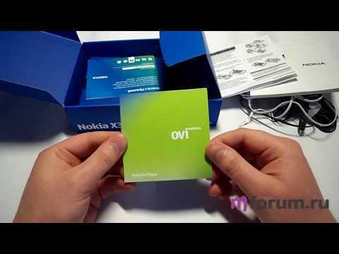 Обзор Nokia X3 - unboxing video / что в коробке...