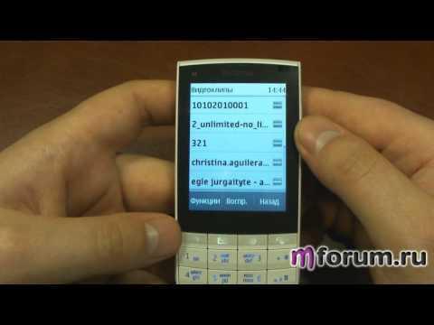 Обзор Nokia X3-02 - Музыка радио видео