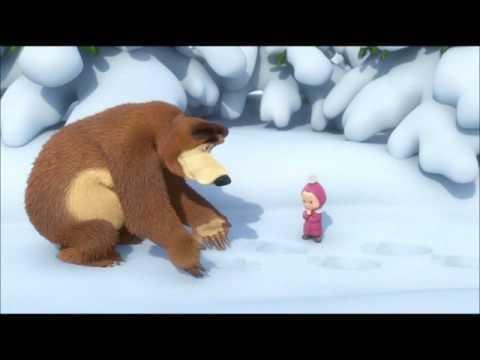Мультфильм Маша и Медведь - Песенка про следы