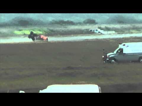 Underground Racing Twin Turbo Gallardo Crashes At 200+MPH Texas Mile