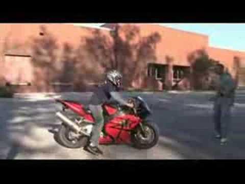 Idiot crashes motorcycle- freakin hilarious