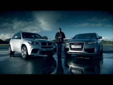 Top Gear - Audi Q7 V12 Vs. BMW X5 M Vs.  Range Rover (2010 MY) Part 1 of 2