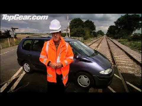 Top Gear - Car hit by train - Car safety message - BBC