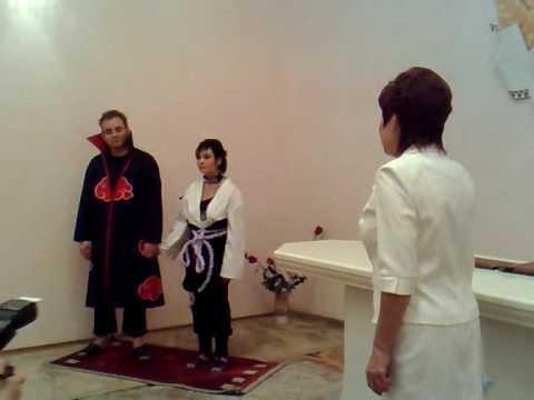 Свадьба в стиле аниме Наруто