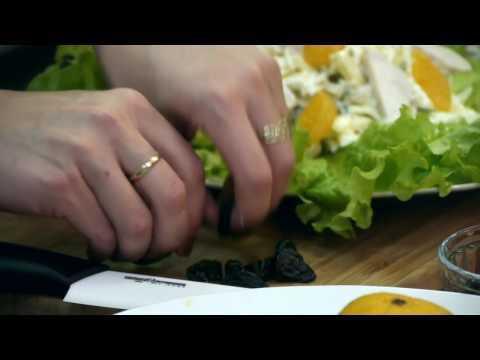 Любимые рецепты. Салат из курицы с мандаринами