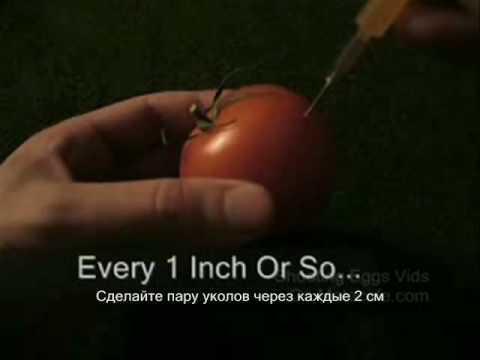 Как сделать светящийся помидор