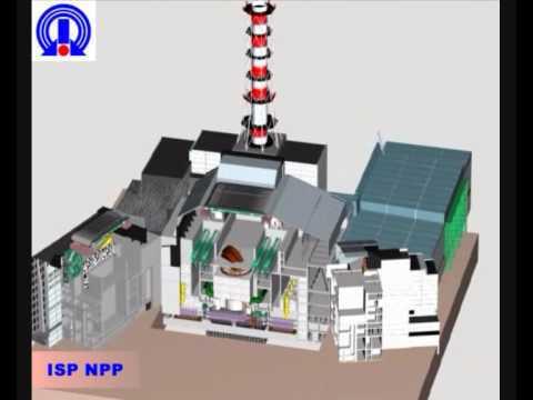 Авария реактора на Чернобыльской АЭС 3Д анимация