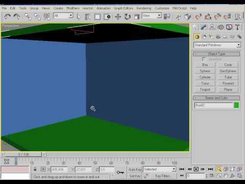 Уроки по 3Д  макс. Ставим стены для интерьера.