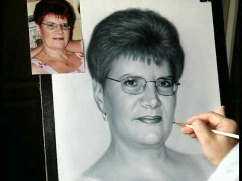 Drawing portrait of woman. How to draw portrait from photo